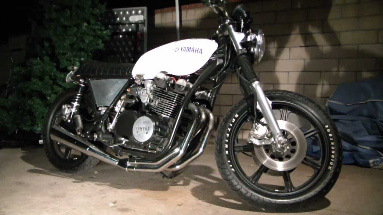 yamaha xs750 - walkaround cafe racer - youtube