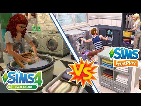 DÍA DE COLADA    Sims 4 vs Sims Freeplay: ¿Cuál es mejor?    Review y comparación