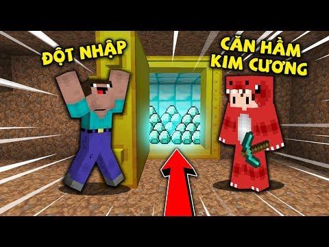 Rex Và Noob Thử Thách Đột Nhập Căn Hầm Kim Cương Và Cái Kết Đau Lòng Trong Minecraft !!