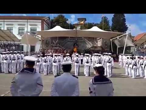 El rey Felipe VI preside los actos por el Día del Carmen en la Escuela Naval de Marín