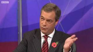 Video Farage and Duncan Smith clash on Europe referendum (BBC News - Question Time, 27.10.2011) download MP3, 3GP, MP4, WEBM, AVI, FLV Oktober 2018