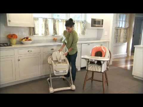 graco high chair 4 in 1 country french chairs blossom seating system highchair youtube