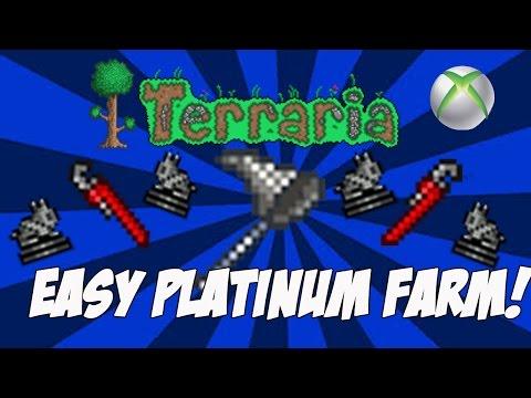 Terraria 1.2.4 Console - Easy & Simple Platinum Farm [Xbox One]