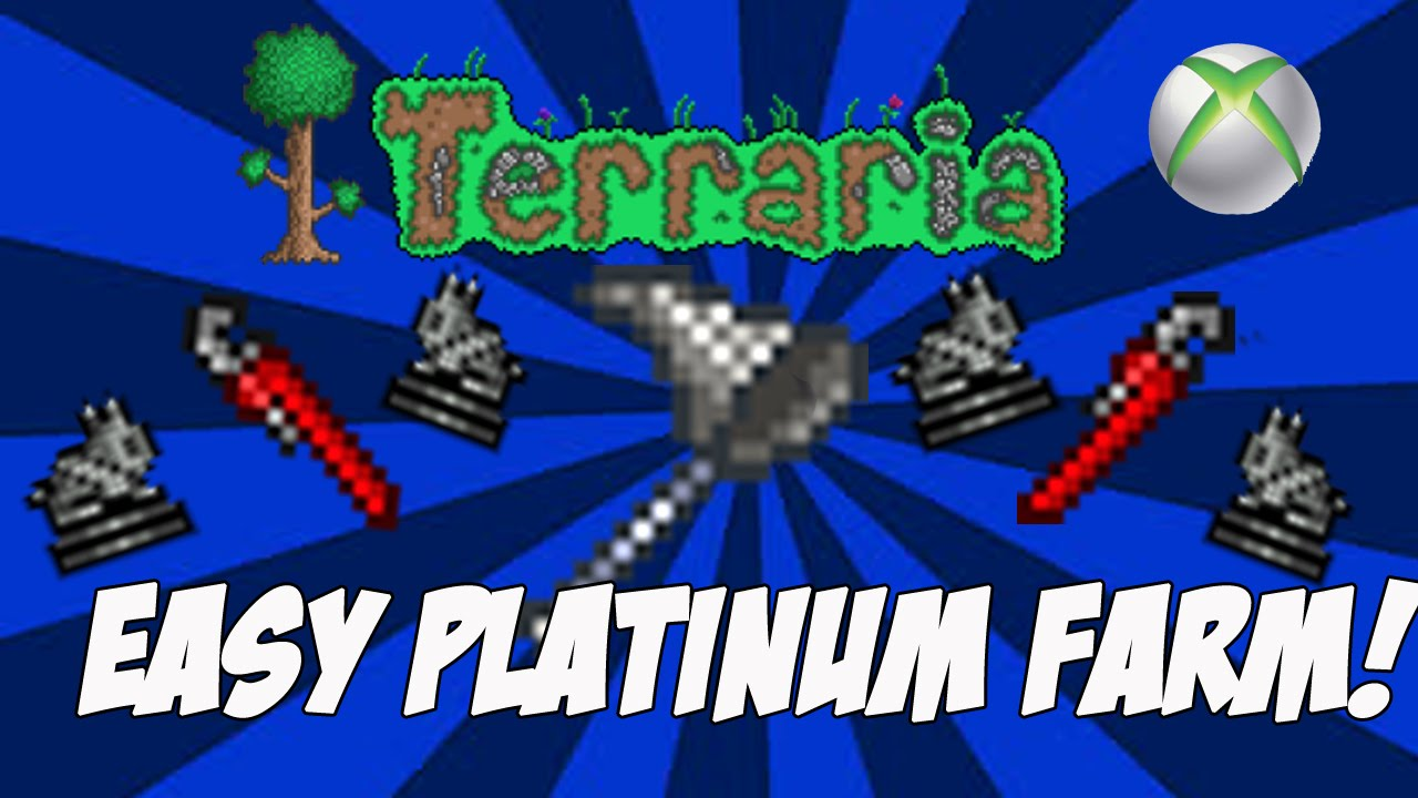 Terraria 124 Easy Simple Platinum Farm Xbox One Ps4 360 Wiring Timer Outdated For 13 Youtube