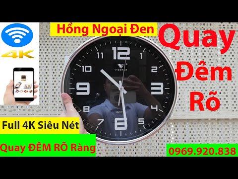 Camera Ngụy Trang Đồng Hồ Treo Tường  Full 4K, QUAY ĐÊM RÕ NÉT , Xem Trực Tiếp Qua WiFi