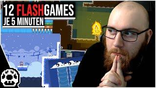 Ich habe 12 Fląsh Games für je 5 Minuten gespielt