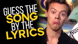 GUESS THE ONE DIRECTION SONG BY THE LYRICS (basically impossible)