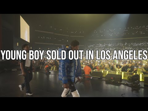 ​@YoungBoy Never Broke Again at Microsoft Theater Still Flexin Still Steppin tour, VLOG 27