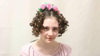 Мастер-класс по созданию бальной причёски эпохи ампир (Regency Ball Hairstyle Tutorial)
