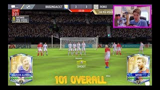 FIFA MOBILE GAME WINNER!!! INSANE 101 OVR TEAM WINS *7* GAMES IN A ROW!! UTOTS! FIFA Mobile iOS