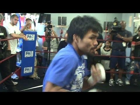 Manny Pacquiao's Lighting Fast Shadow Boxing