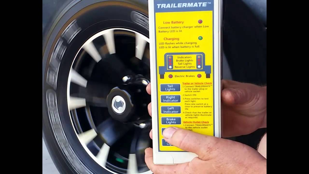 Electric Brake Test with TRAILERMATE - YouTube