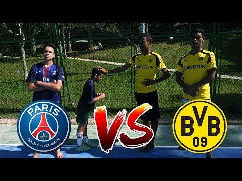 Psg Vs Borussia Dortmund Desafio De Futebol Youtube