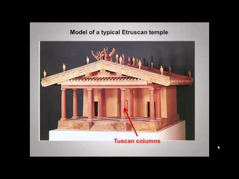 Etruscan art and comparative temples