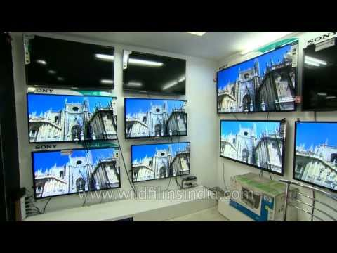 LCD television showroom at Yusuf Sarai, Delhi