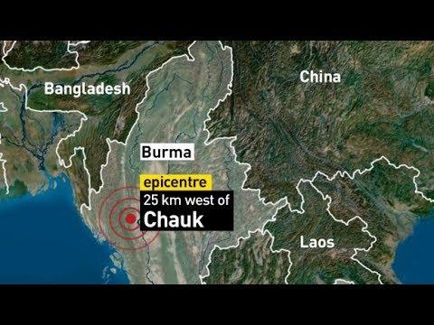 NASA BLATANT FRAUD - Sea Level Has Been Adjusted - Major Burma Quake