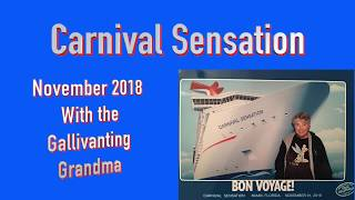 Carnival Sensation November 2018