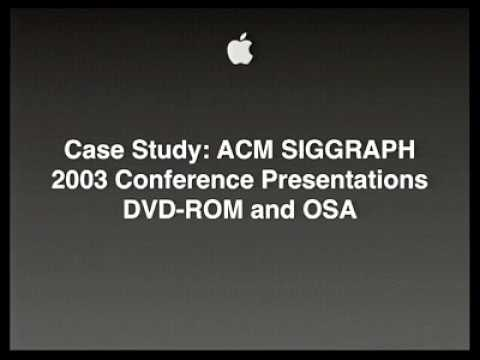 Apple WWDC 2004 Session 718 - Media Event Production Case Study