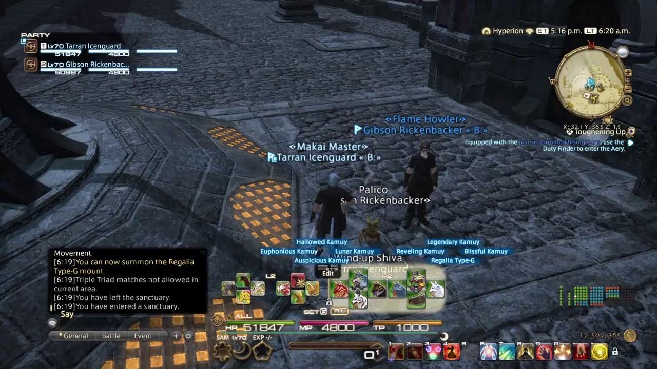 Final Fantasy XIV x Final Fantasy XV Crossover - YouTube