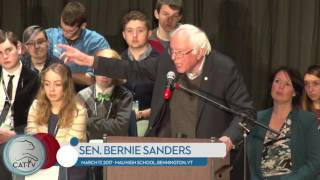Bernie Sanders at Mount Anthony Union High School - 3/17/17