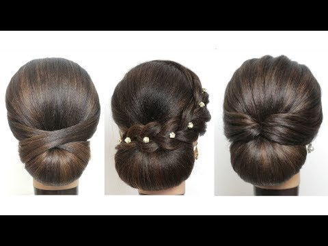 3 Прически на средние и длинные волосы. Красивые и легкие низкие пучки