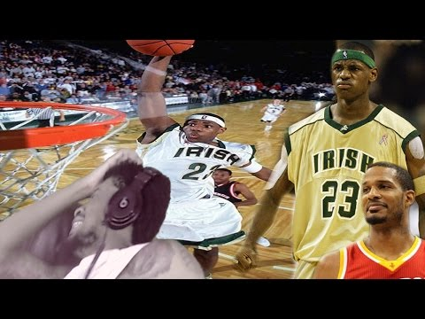 OMFG RODE ARIZA'S FACE!! LEBRON JAMES 52 POINTS IN HIGH SCHOOL REACTION!
