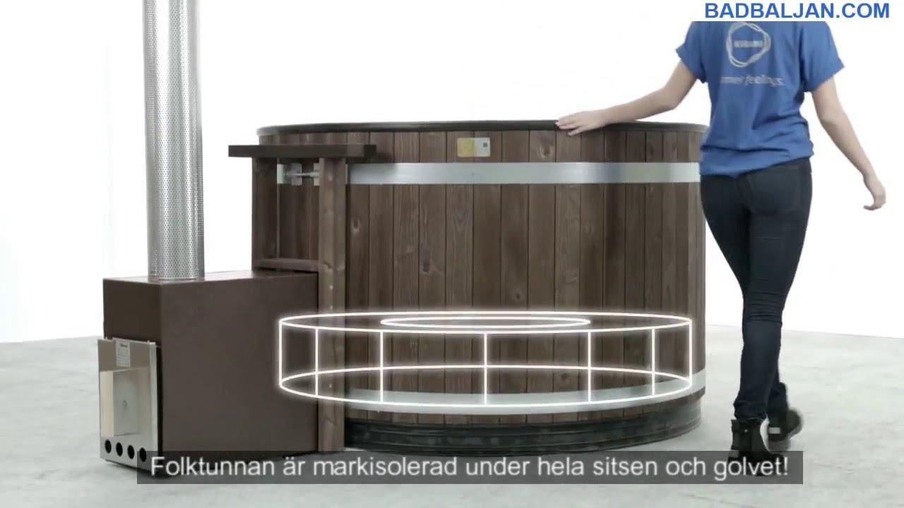 Inredning badtunna plast vedeldad : Fritidstunnan Рen badtunna fr̴n BADBALJAN.COM - YouTube