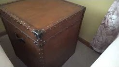 Square Steamer Trunk Side End Table