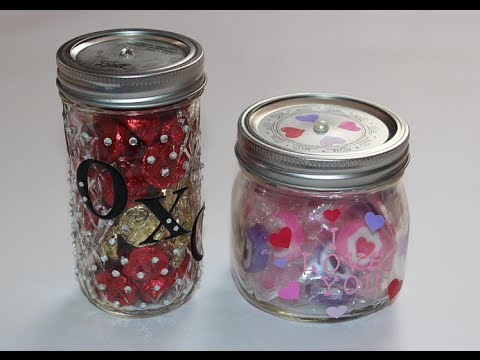 Diy Candy Jar For Valentine S Day Youtube