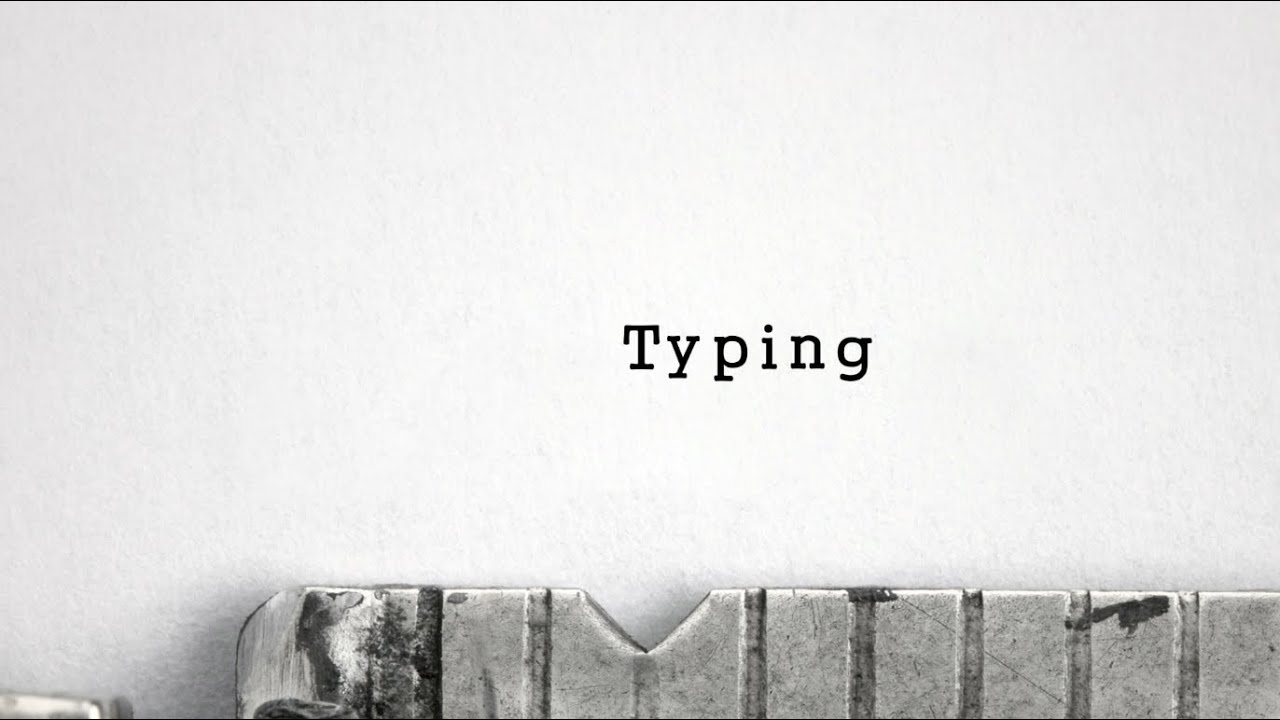 After Effects - Typewriter Typing with Sound