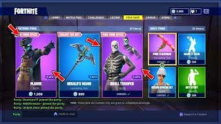 *NEW* SCOURGE, PLAGUE, SKULL TROOPER & RANGER SKINS LIVE! + FREE VBUCKS GIVEAWAY! (FORTNITE LIVE)