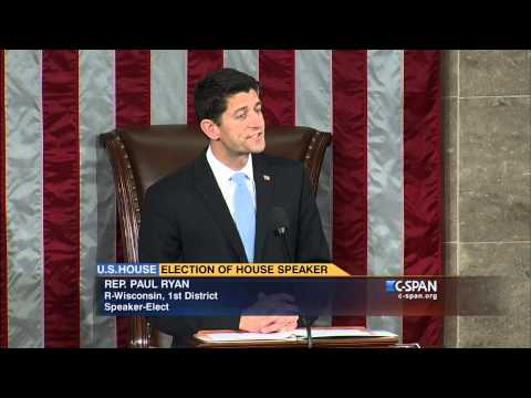 Newly-elected Speaker Paul Ryan (R-WI) addresses House of Representative (C-SPAN)
