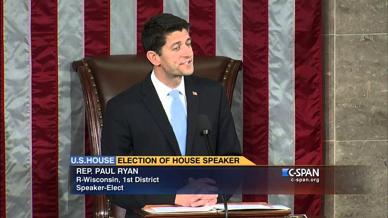 Newly Elected Speaker Paul Ryan (R WI) Addresses House Of Representative  (C SPAN)