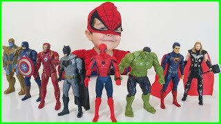 Yusuf pretend play with Superhero Toys | Marvel Avengers Infinity War