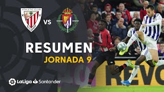 Resumen de Athletic Club vs Real Valladolid (1-1)