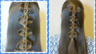 Hairstyles For School, The Palm Tree Bubble Braid Tutorial