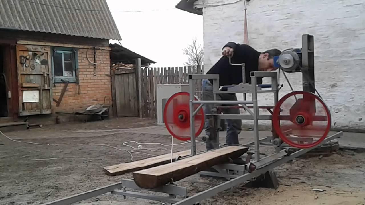 Пилорама ленточная своими руками на колесах