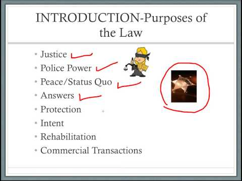 Introduction to U.S. Law:  Defining Law and Jurisprudence