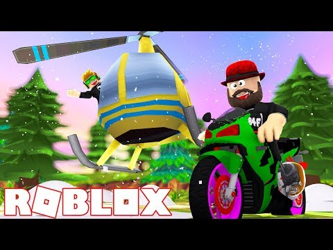 HELICOPTER in WINTER TIME! ROBLOX VEHICLE SIMULATOR | DRAG RACES | CAR STUNTS