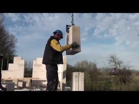 Tehalux: building with calcium silicate (SILKA) - YouTube