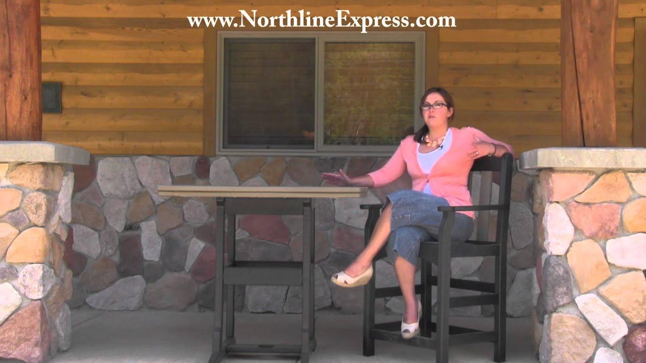 Breezesta Maintenance Free Patio Furniture   42u0027u0027 X 42u0027u0027 Counter Height  Table