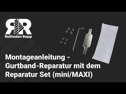 Montageanleitung Rollladen Gurtband Reparatur Mit Dem Reparatur Set Von Rolllra De Mini Maxi Youtube