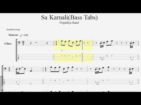 Sa Karnali by Nepathya band (bass tabs) bass cover lesson-nepali bass guitar lesson-joel magar