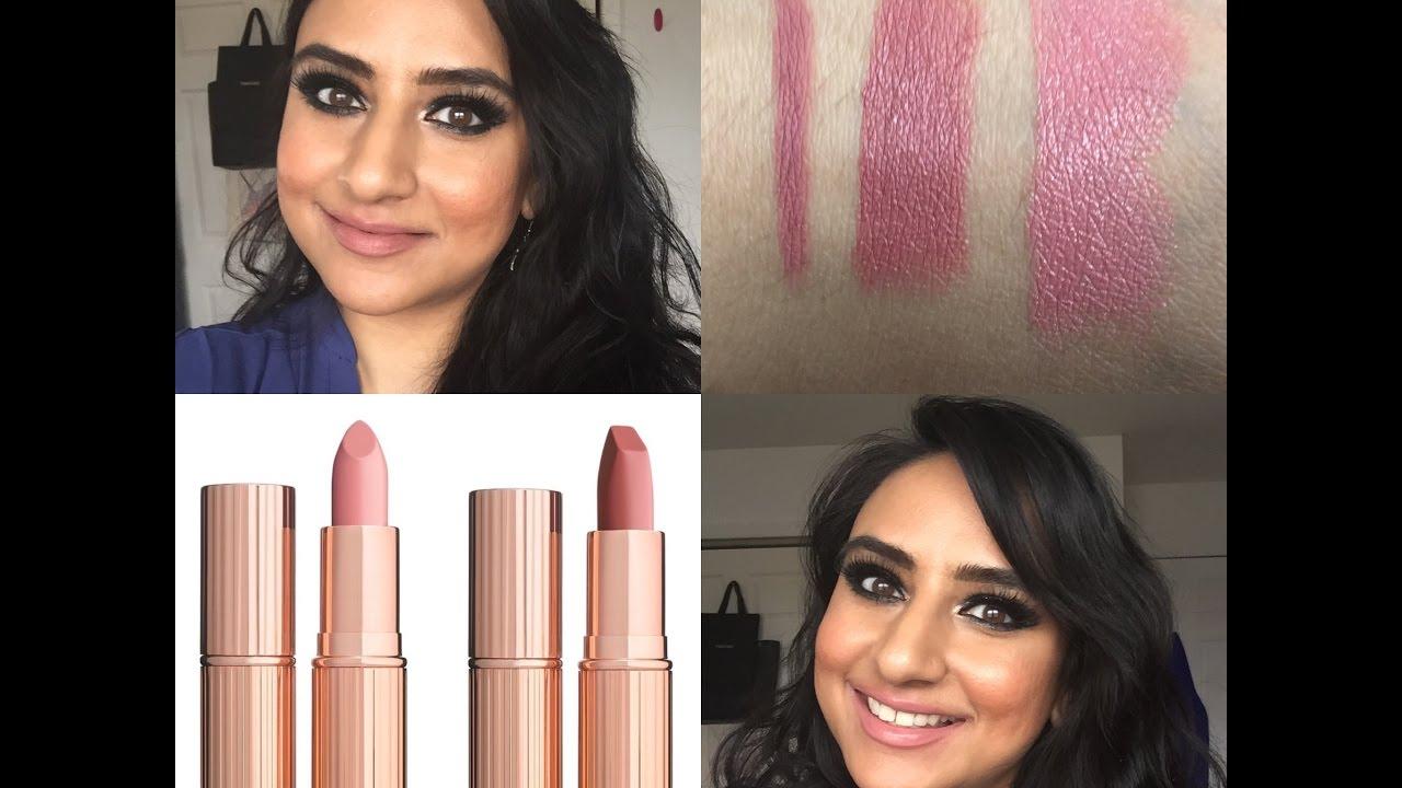 new charlotte tilbury pillow talk valentine lipsticks swatches lip swatches