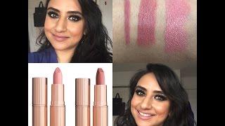 NEW Charlotte Tilbury Pillow Talk & Valentine Lipsticks | Swatches & Lip Swatches