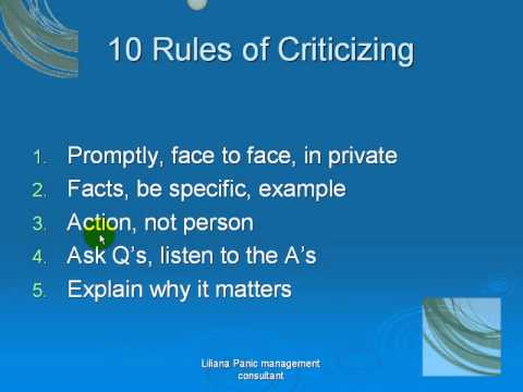 How to criticize an article