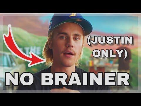 Justin Bieber's part in No Brainer