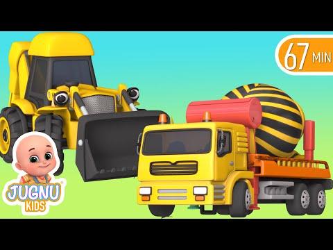 Excavator videos for children   Construction trucks for children   Trucks for children  - Jugnu kids