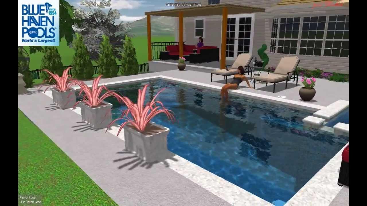Blue Haven Pools   St. Louis, MO 3D Pool Studio Rendering