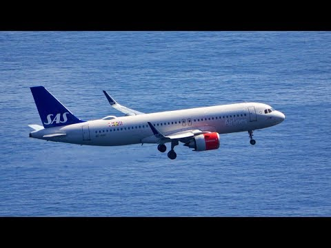 4 LANDINGS & 4 TAKEOFFS FROM ABOVE At Madeira Airport 29.02.2020